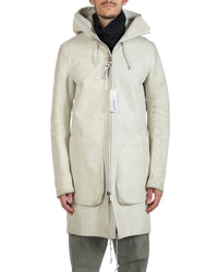 DEEPTI MEN AIRLOCK ZIP MEMBRANE SLEEVE LEATHER PARKA