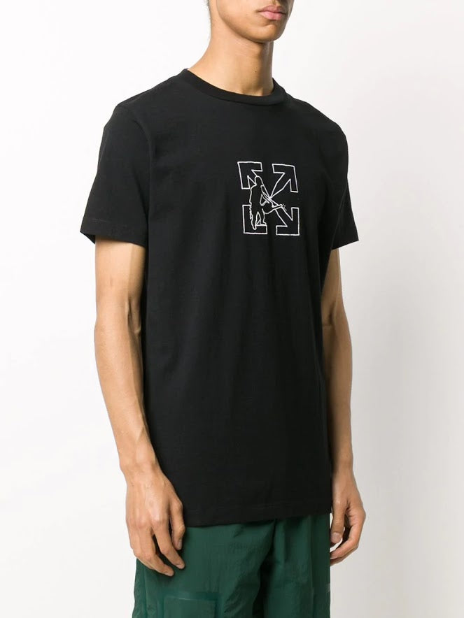OFF-WHITE MEN OW LOGO WORKERS S/S SLIM TEE