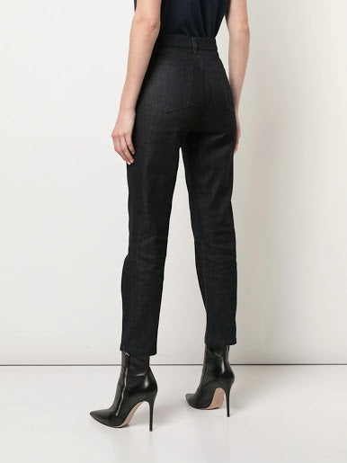 A_PLAN_APPLICATION WOMEN STRAIGHT CROPPED DENIM