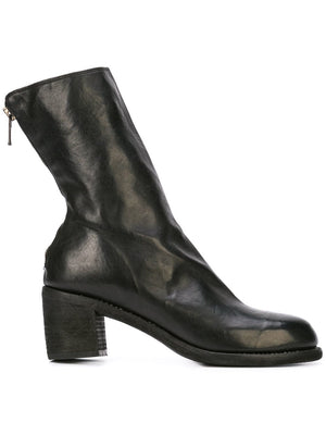 GUIDI WOMEN SOFT HORSE LEATHER M88 BACK ZIP HEEL BOOTS  BLKT