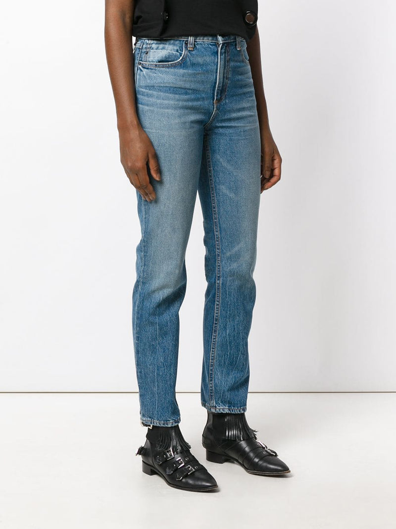 ALEXANDER WANG WOMEN CULT STRAIGHT LEG JEANS