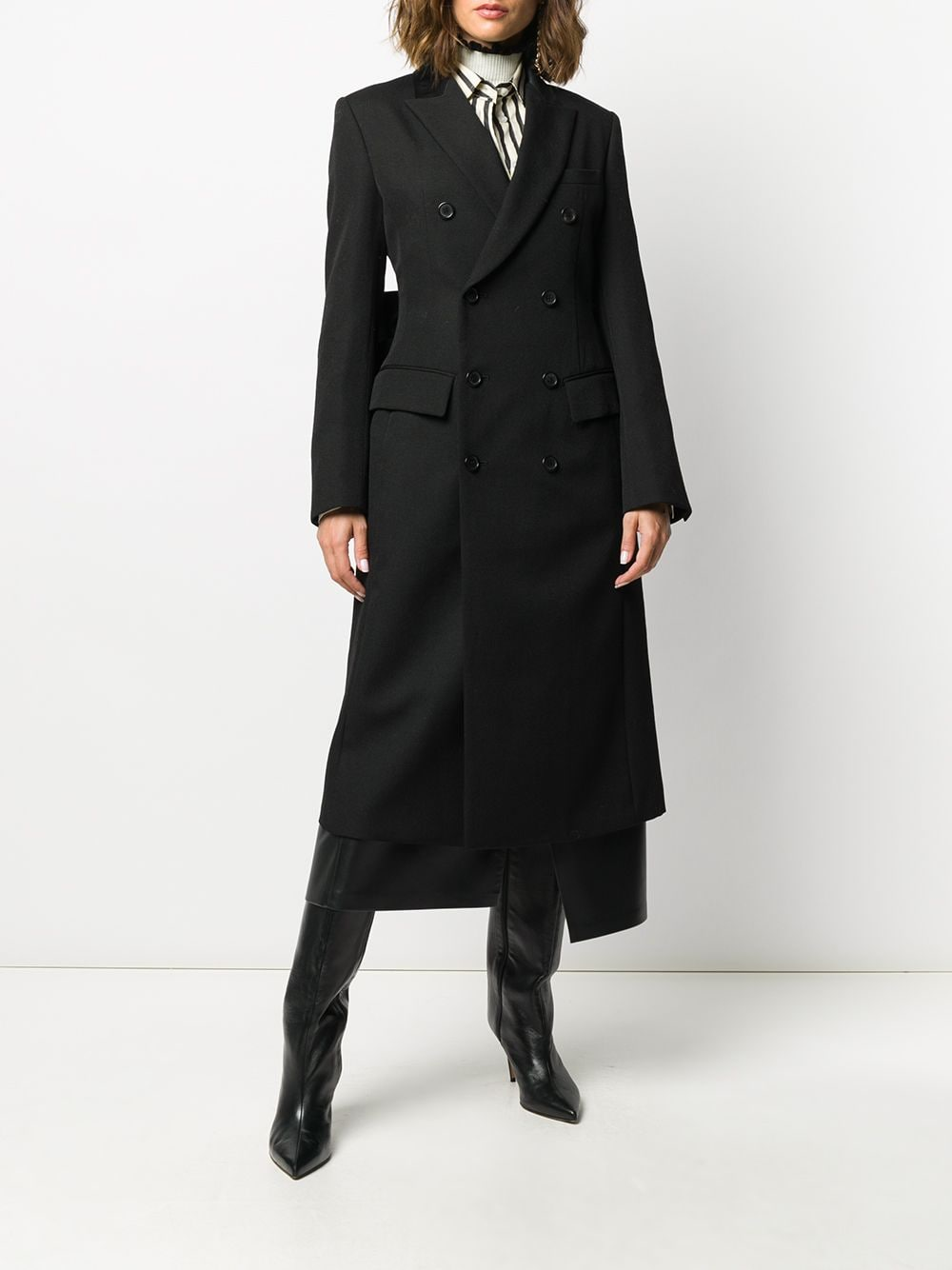 UNDERCOVER WOMEN  BOW TIE DOUBLE BREATED COAT