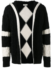 SAINT LAURENT MEN BAJA KNIT CARDIGAN HOODED CARDIGAN