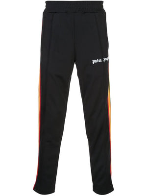 PALM ANGELS MEN RAINBOW SLIM TRACK PANTS