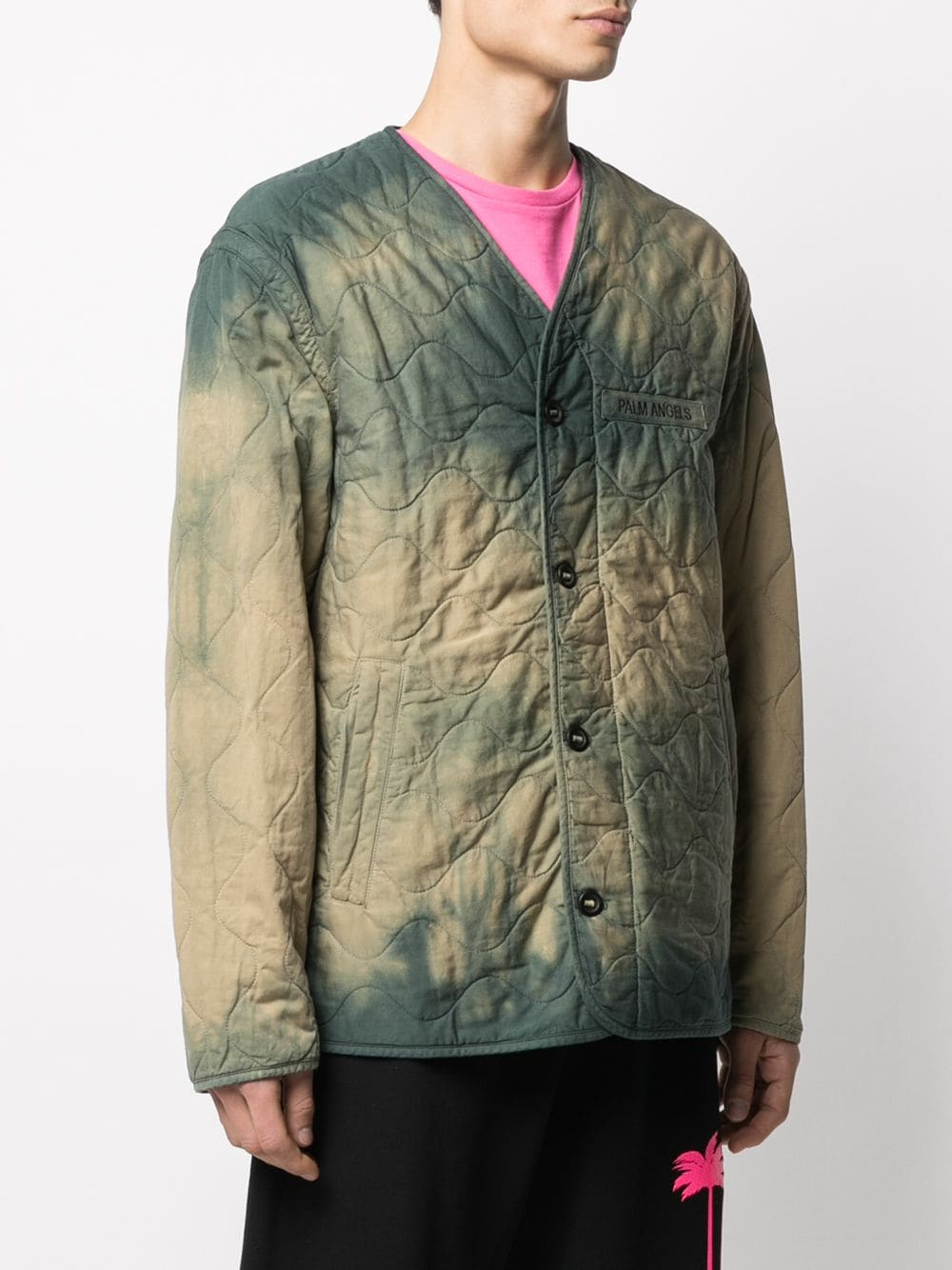 PALM ANGELS MEN MILITARY WINGS TIE DYE JACKET