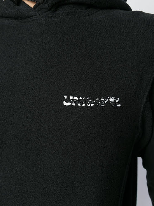 UNRAVEL PROJECT MEN BONES TERRY BRUSH BASIC HOODIE