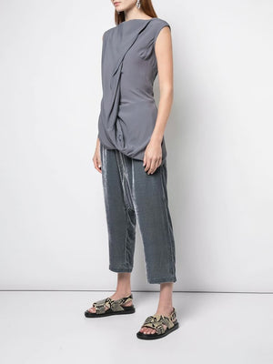 RICK OWENS WOMEN SLASH NECK TOP