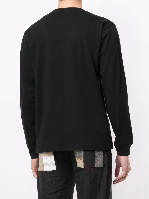 YOHJI YAMAMOTO POUR HOMME MEN PARIS LOGO NEW ERA LONG SLEEVE T-SHIRT