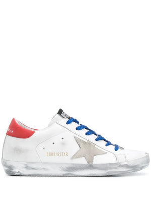 GOLDEN GOOSE WOMEN SUPERSTAR LEATHER UPPER AND HEEL SUEDE STAR SPARKLE SNEAKERS