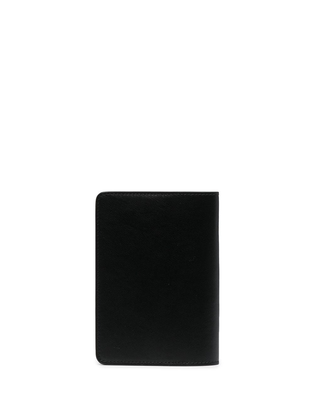 OFF-WHITE CALF SKIN QUOTE PASSPORT HOLDER