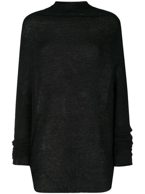 RICK OWENS WOMEN CRATER KNIT SWEATER