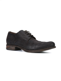 A1923 MEN HORSE LEATHER POINTY TOE DERBY