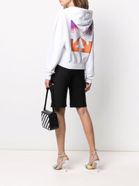 OFF-WHITE WOMEN GRADIENT CROP HOODIE WHITE MULTICOLOR