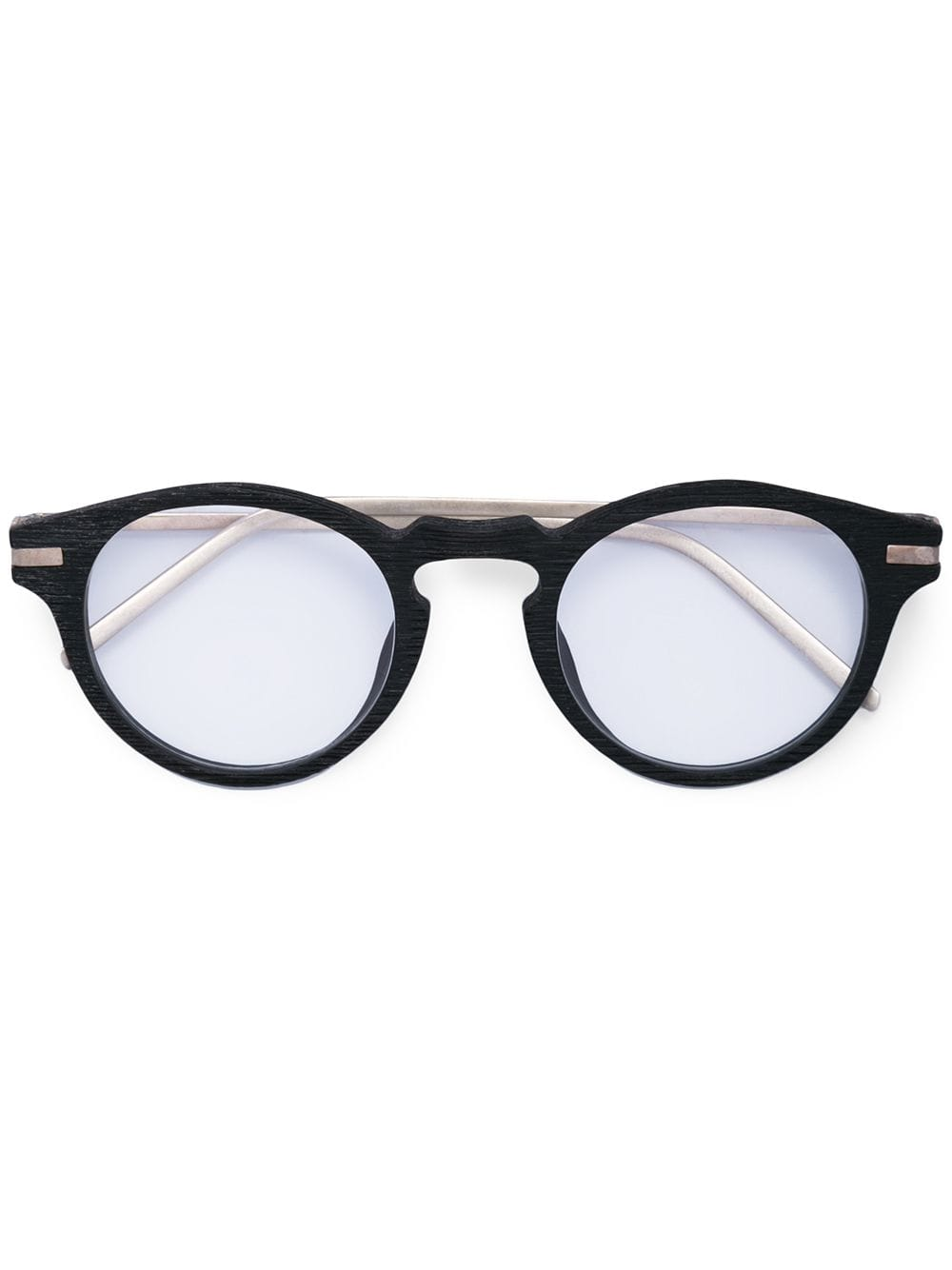 TAICHI MURAKAMI NATURAL BUFFALO HORN OPTICAL FRAME WITH 925 SILVER TEMPLE