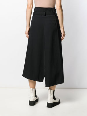 Y'S WOMEN BELTED WRAP SKIRT