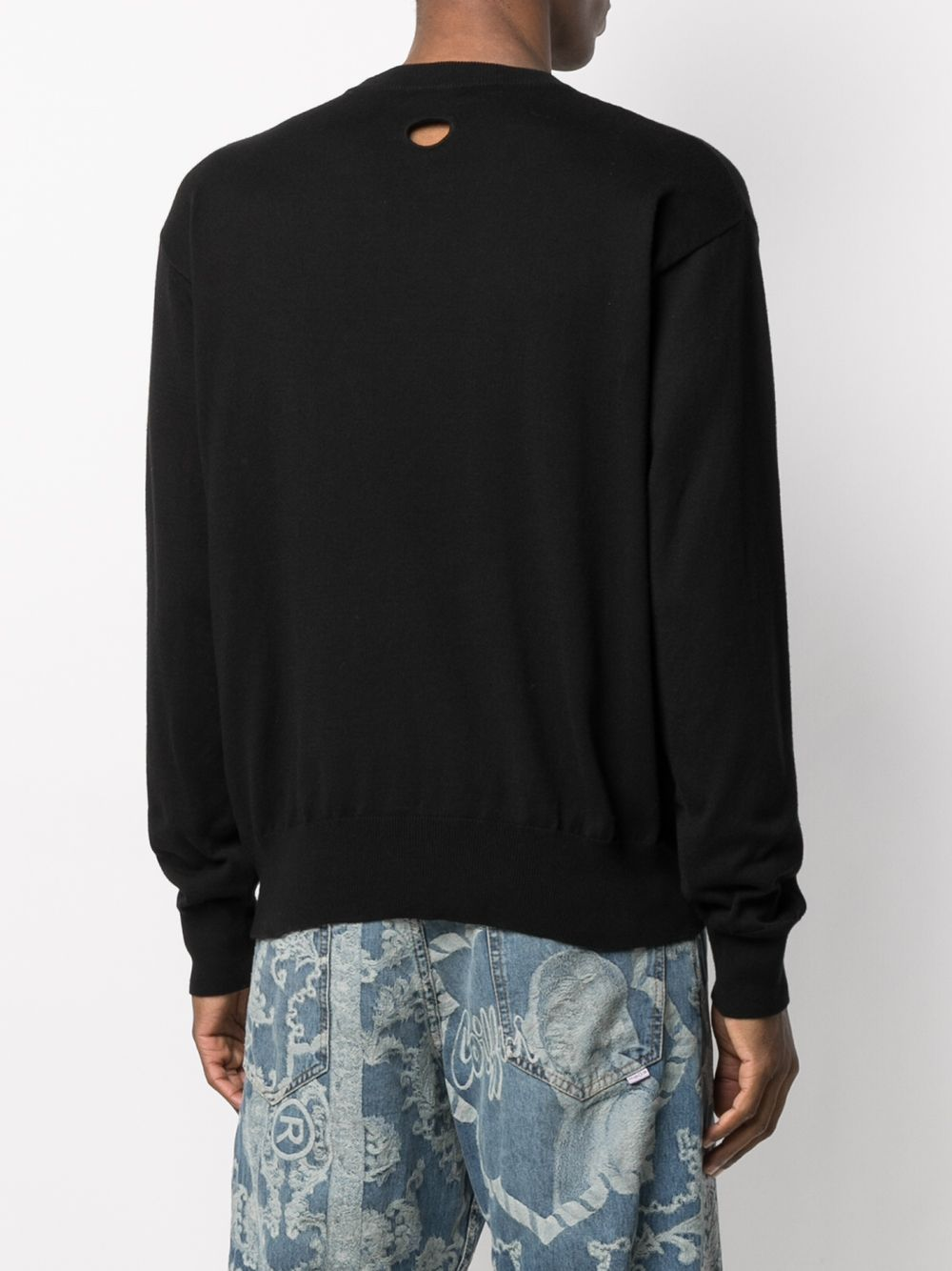 OFF-WHITE MEN OW LOGO BASIC KNIT CREWNECK