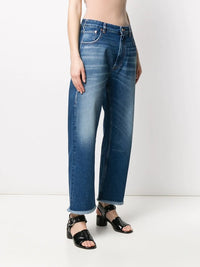 MM6 WOMEN CROPPED JEANS WITH DIY STICKERS