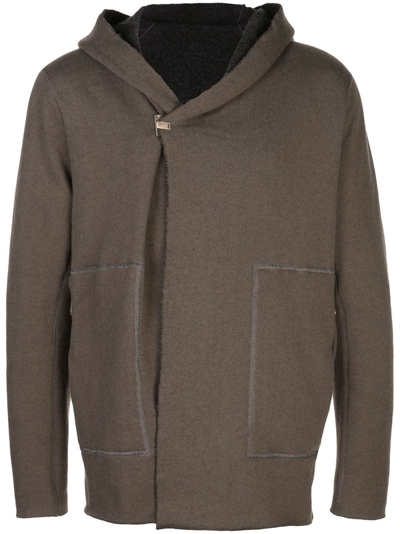 TAICHIMURAKAMI MEN CASHMERE BLANKET HOODED JACKET