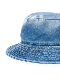 MM6 LOGO DENIM BUCKET HAT