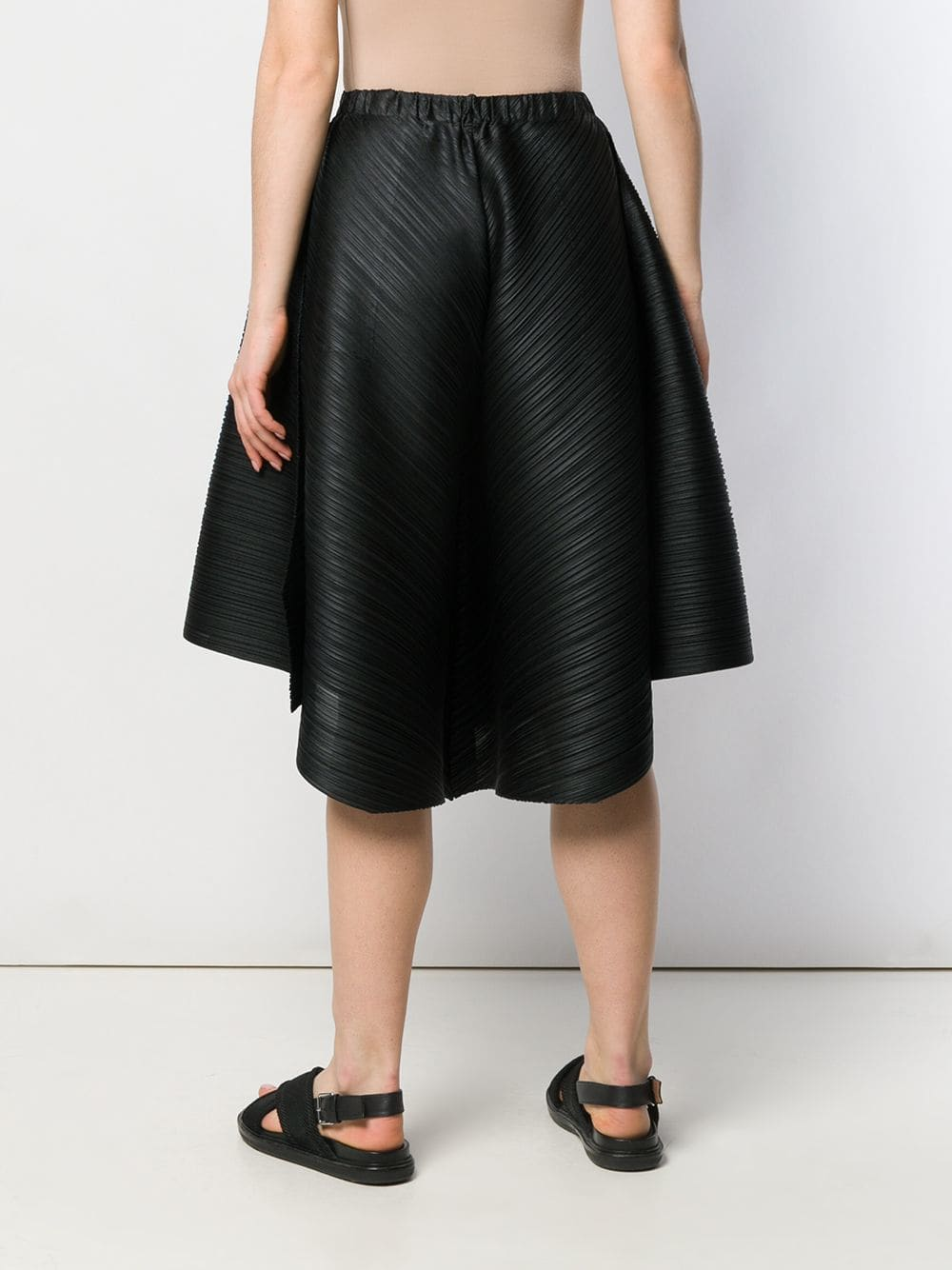 PLEATS PLEASE ISSEY MIYAKE WOMEN PLEATED CROSS GRAIN PANTS