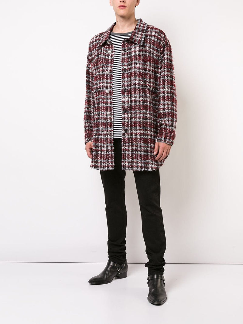 FAITH CONNEXION UNISEX TWEED SHIRT X1801T00B36 600