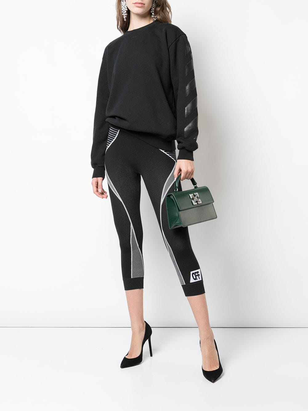 OFF-WHITE WOMEN DIAG OFF WHITE SWEATSHIRT