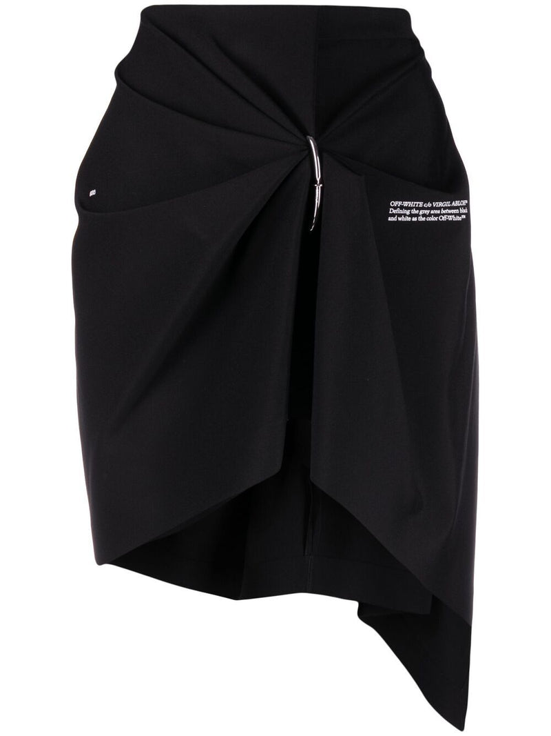 OFF-WHITE WOMEN NAIL DRAPE MINI SKIRT
