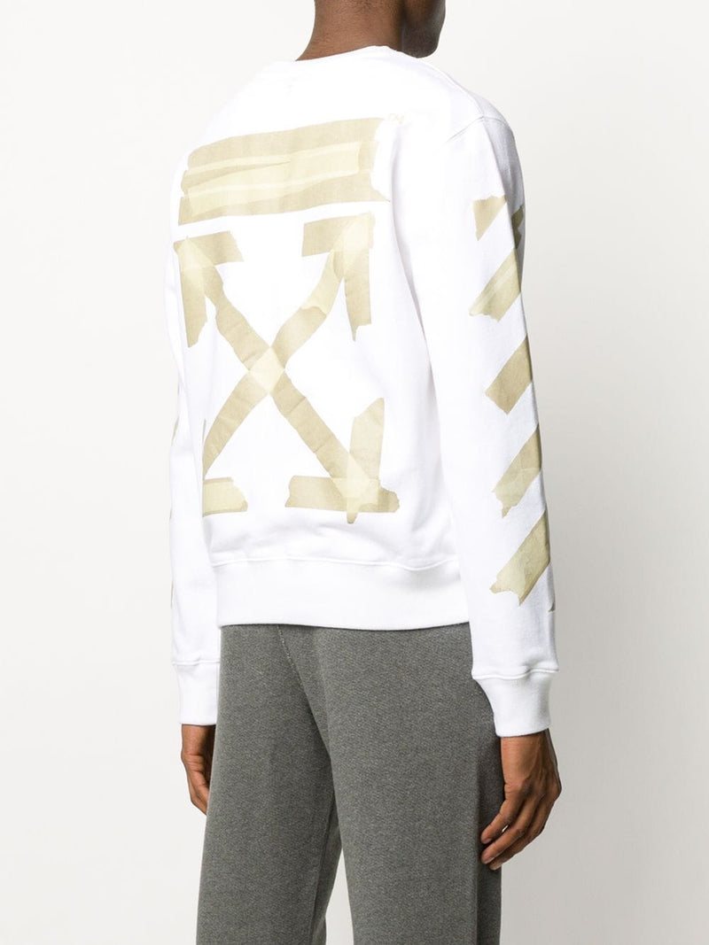 OFF-WHITE MEN TAPE ARROWS SLIM CREWNECK