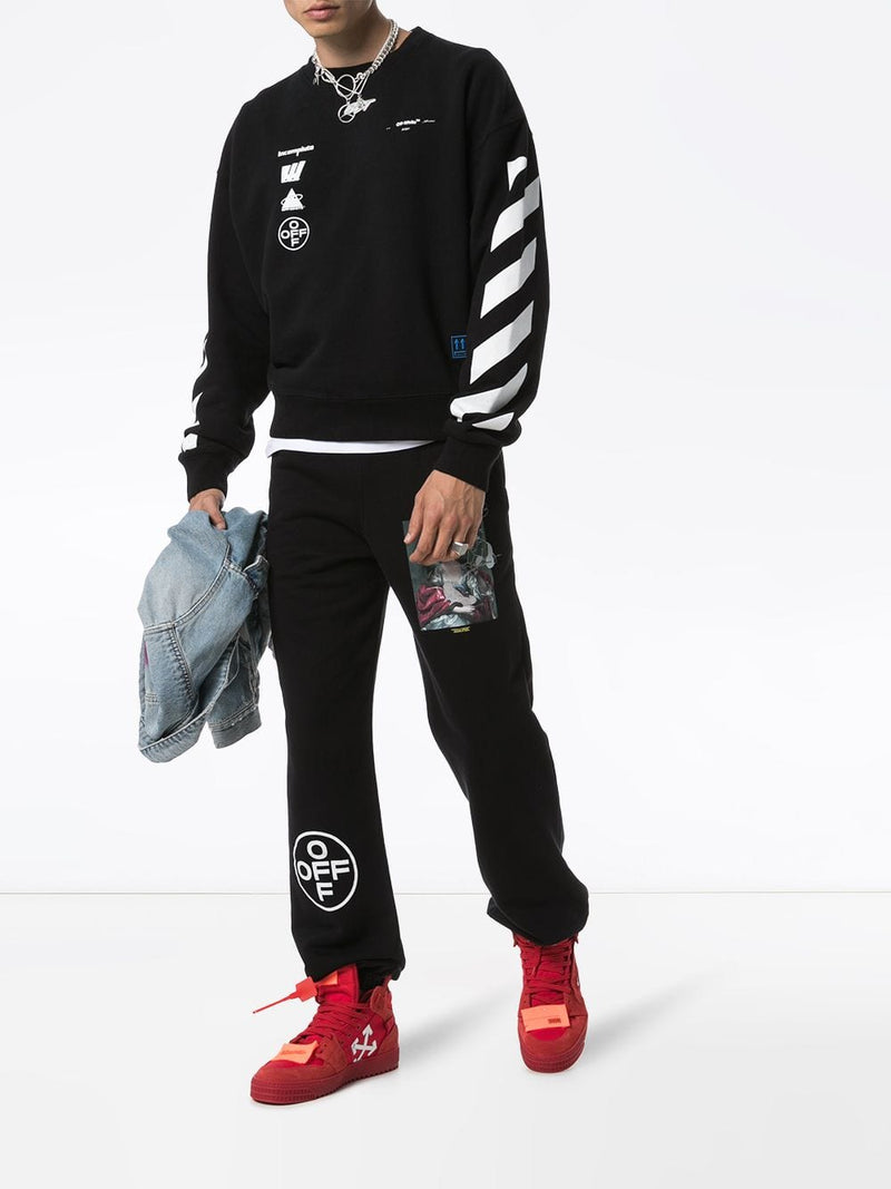 OFF-WHITE MEN MARIANA DE S SLIM SWEATPANT