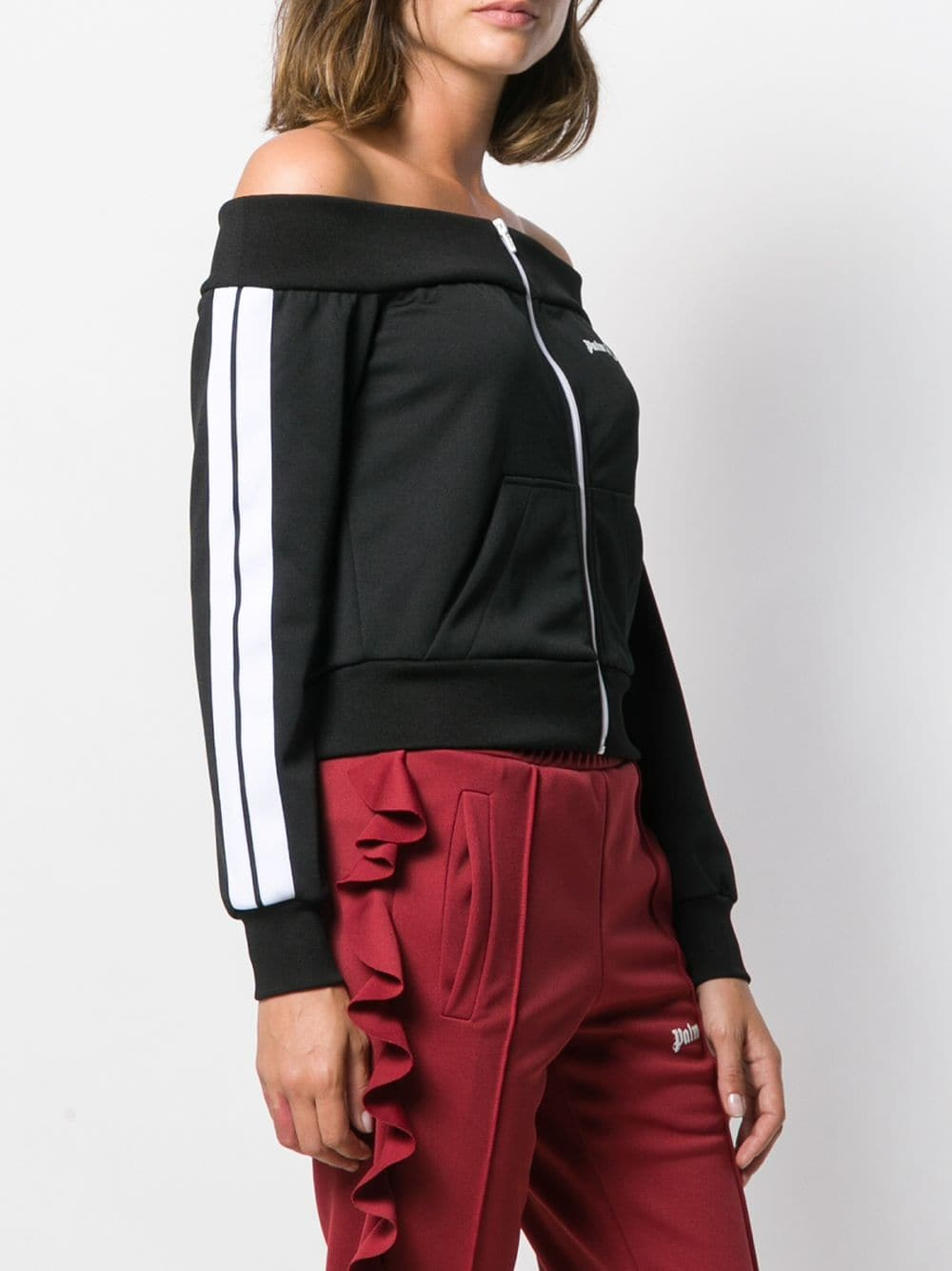 PALM ANGELS WOMEN OFF SHOULDERS TRACK JACKET