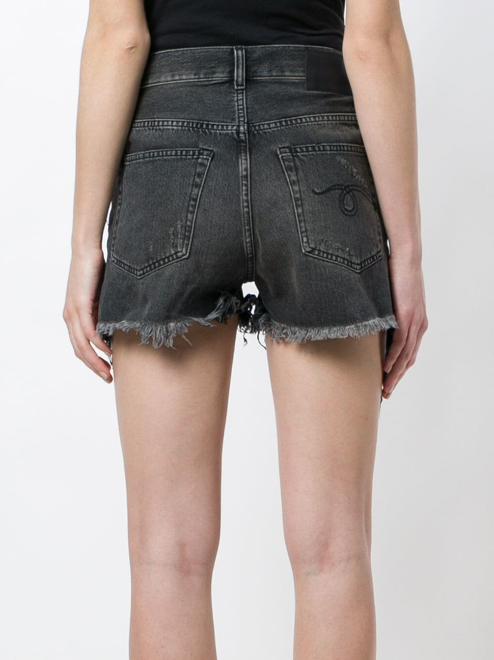 R13 WOMEN SHREDDED SLOUCH SHORT