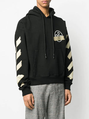 OFF-WHITE MEN TAPE ARROWS OVER HOODIE