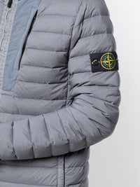 STONE ISLAND MEN LOOM WOVEN DOWN CHAMBERS STRETCH NYLON-TC HOODED JACKET