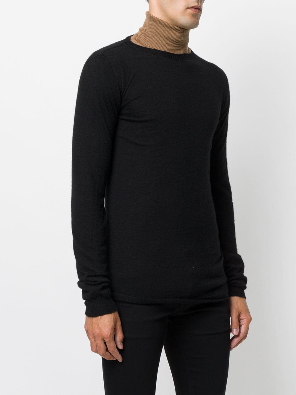RICK OWENS MEN BIKER LEVEL ROUND NECK SWEATER