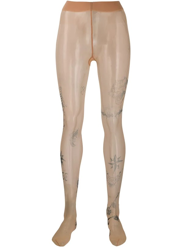 VETEMENTS WOMEN TATTOO TIGHTS
