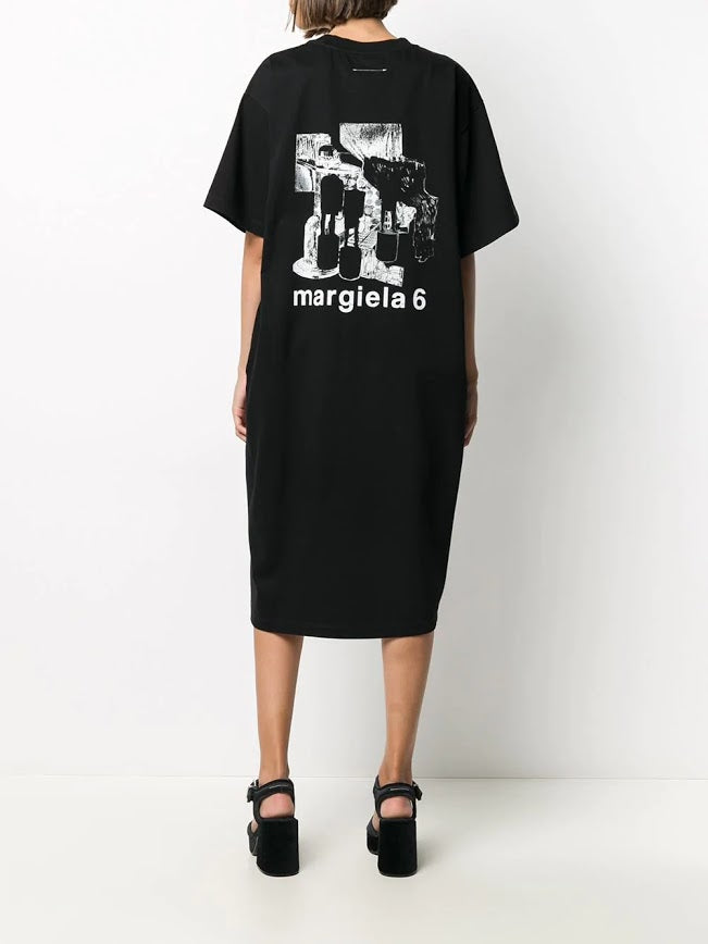 MM6 LOGO PRNTED T-SHIRT DRESS