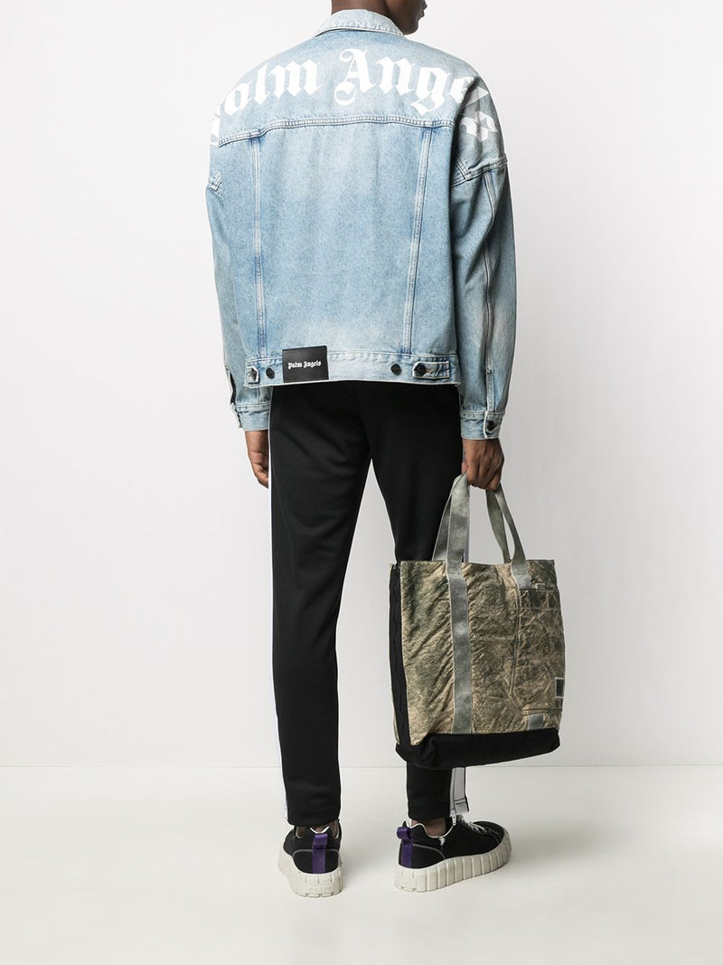 PALM ANGELS MEN LOGO OVER DENIM JACKET