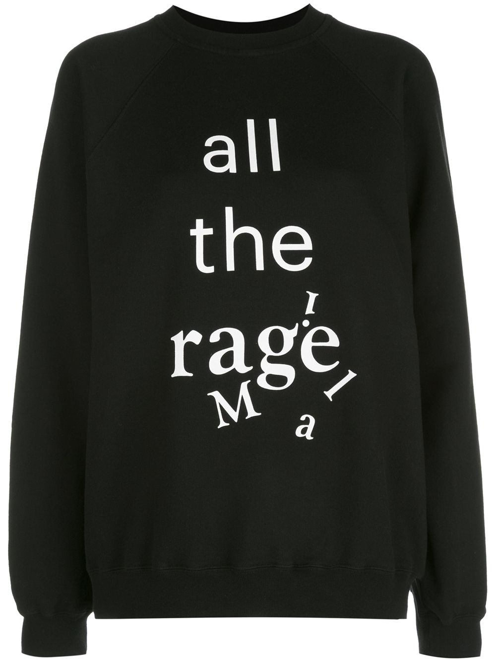 MAISON MARGIELA WOMEN ALL THE MARGIELA PRINT SWEATSHIRT