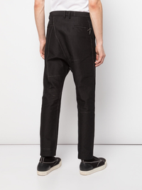 TAICHIMURAKAMI MEN RAMIE PINCHECK METAL EDGE PANTS