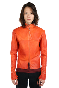 MA+ MEN ZIPPED SLEEVES UNLINED BIKER JACKET