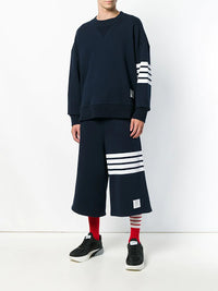 THOM BROWNE MEN OVERSIZED CLASSIC SWEAT SHORTS