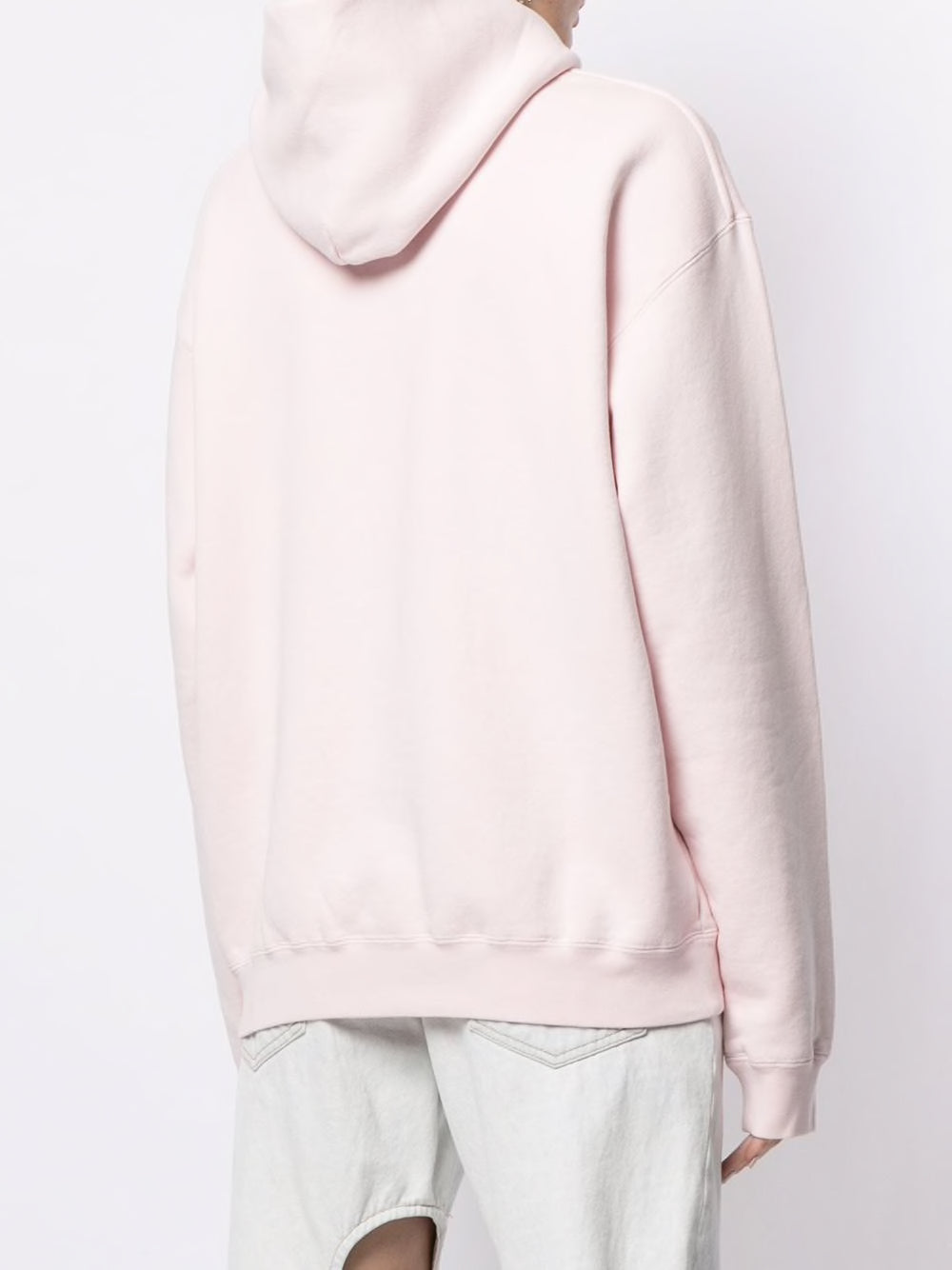 T BY ALEXANDER WANG WOMEN GARMENT WASHED HOODIE WITH WANG PUFF PRINT