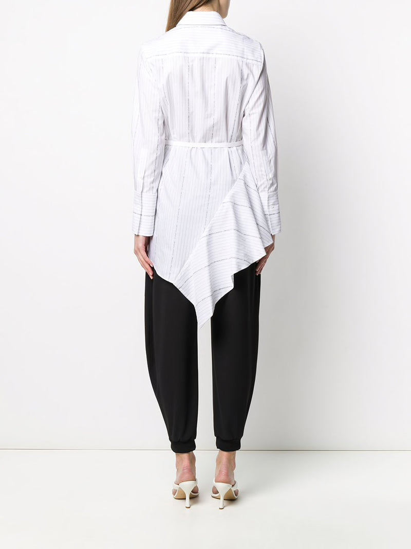 OFF-WHITE WOMEN POPELINE ASYMMETRICAL DRESS