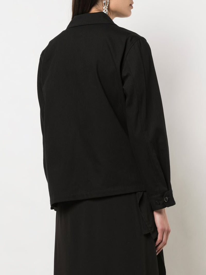 Y'S WOMEN ASYMMETRIC BELT JACKET
