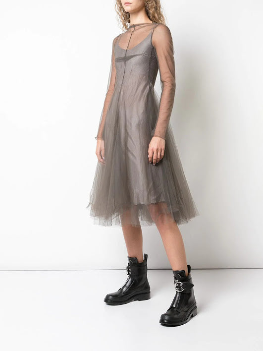 MARC LE BIHAN WOMEN TULLE MIDI DRESS