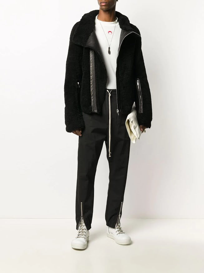 RICK OWENS MEN BAUHAUS SHEARLING FUR JACKET