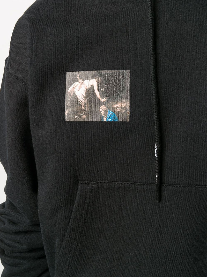 OFF-WHITE MEN CARAVAGGIO ANGEL OVER HOODIE