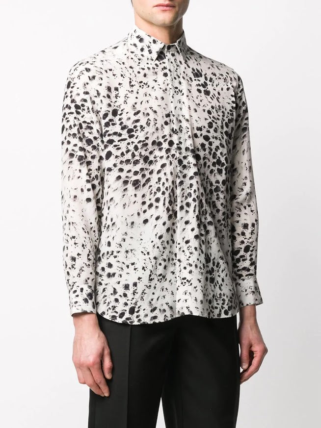 SAINT LAURENT MEN PRINTED SHIRT