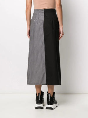 MM6 WOMEN STRIPED LAYER SKIRT