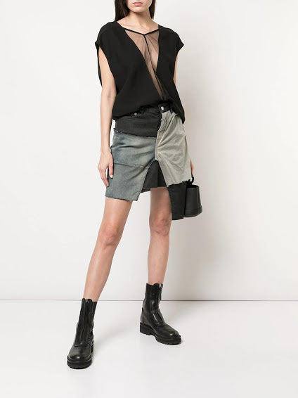 RICK OWENS WOMEN DBL V TOP